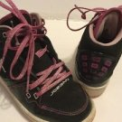 Nike Air Jordan Girls Preschool Size 11c Black Pink Sparkle Laces High Top Athle
