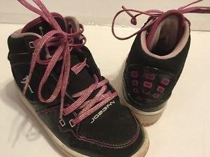 Nike Air Jordan Girls Preschool Size 11c Black Pink Sparkle Laces High Top Athle