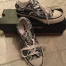 Converse All Star Chuck Taylor  Low Top Girls Size 1 Purple Green Aqua Floral