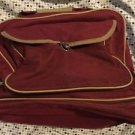 Maroon Canvas Bowling Bag Hand Bag Shoe Compartment  1 Ball