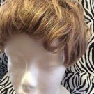 Paula Young Wig Topper Clip On Women's Short Wavy Light Brown No5