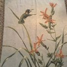 Hummingbird Tapestry Throw Blanket Fringe 51x68 Spring Birds