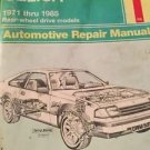 1971-85 Toyota Celica repair manual Haynes RWD models