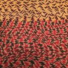 "Vintage Crocheted Afghan 50"" X 65"" Fall Autumn Colors Chevron Handmade"
