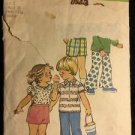 Simplicity Pattern 5706 Size 1 Boys Girls Vintage Toddler Shirt Shorts Pants