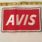 Vintage Patch Avis Large Red White Rockabilly Americana