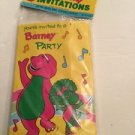 Vintage Barney And Baby Bop Party Invitations Unique 1992 8 14384 Lyons Group