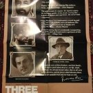 Three Brothers 1982 One Sheet Movie Poster 27x41 Vtg Francesco Rose Noiret