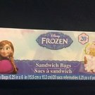 Disney Frozen Anna Elsa 20 Sandwich Bags New