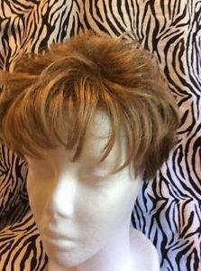Gabor Wig Women's Short Pixie Light Brown All Hair Types Slightly Wavy