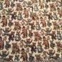 "Teddy Bear Christmas Tree Skirt 60"" Upholstery Fabric Lace Trim Doll Decorative"