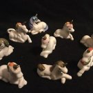 Vintage Unicorn Lot Of 9 Cermaic Laying Crossed Legs