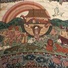 Noahs Ark Tapestry Throw Blanket Fringe 50x58 Bible Church Religious Nursery