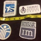 Vintage Medical Local Patch Memorabilia Lot Of 4 Hipple Talbert Inwood YMCA