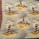 Lighthouse Tapestry Throw Blanket Fringe 67x174 Ocean Large Huge Decorative
