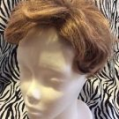 Paula Young Wig Topper Clip On Women's Short Wavy Light Brown No8