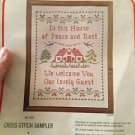 "Bucilla Stamped Cross Stitch Sampler Kit 2692 Partially Done 10""x13"" House Guest"