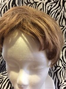 Paula Young Wig Topper Clip On Women's Short Wavy Light Brown No9
