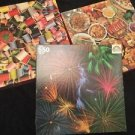 Vintage Puzzles Lot Easton Sew N Sew Oriental Chow Random House Fireworks 500+