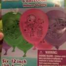 "Doc Mcstuffins Balloons Helium Quality Pack Of 6 12"" 30.4 CM Latex 111352"