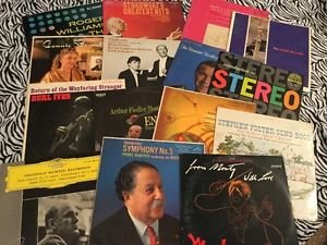 Vintage Vinyl Records Lot Classical 50s Montavoni Tchaikovsky Burl Ives Stokowsk