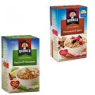 Quaker Apples & Cinnamon & Spice Instant Oatmeal Hot Cereal 20 Packs Individual