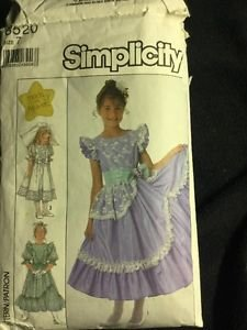 Simplicity Pattern 8520 Girls Dress Size 7 Made In Heaven Frilly Easter