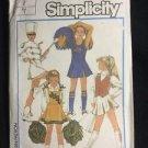 Simplicity Pattern 6966 Girls Cheer Costume Cheerleader Majorette Size 7 Vintage