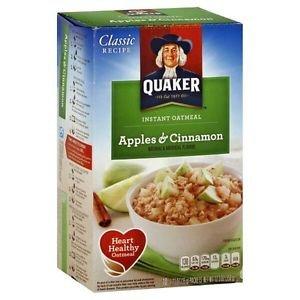 Quaker oatmeal Apple Cinnamon Instant Hot Cereal 10 Packs 1.51 Oz Individual