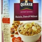 Quaker Raisin Date Walnut Instant Oatmeal Hot Cereal 10 Packs 1.3 Oz Individual