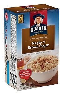 Quaker Maple Brown Sugar Instant Oatmeal Hot Cereal 10 Packs 1.51 Oz Individual