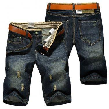 Mens Knee Lenght Denim Shorts