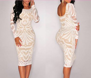 Off White Bodycon Dress