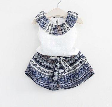 Little Girls Vintage Short Set