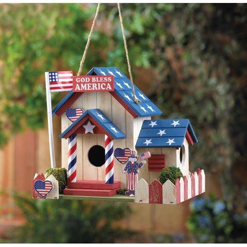 God Bless America Birdhouse