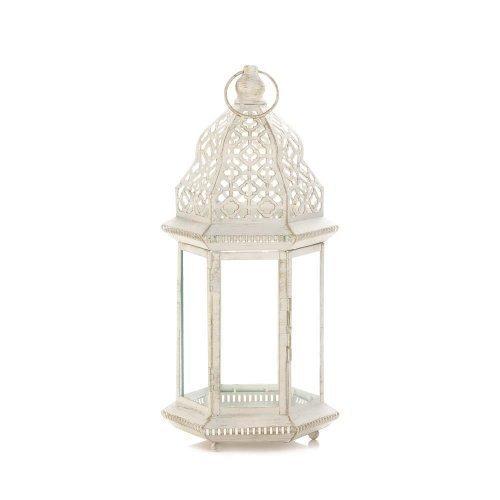 Sublime Distressed White Large Lantern