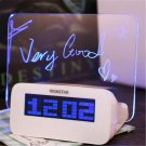 Electric Clock Alarm Clock Memo Board Backlight Fashionable For Home Silent