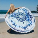 Beach Towel Tapestry Round Shower Towel Yoga Mat Serviette De Plage Adulte Towel