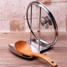 Stainless Steel Pan Pot Rack Cover Lid Rest Stand Spoon Holder Home Appliance
