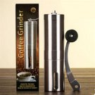 Coffee Grinder Burr Mill Manual Hand Crank Portable Conical Stainless Steel