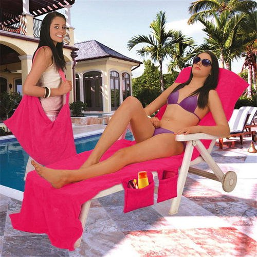 30� 83� Microfiber Fiber Sunbath Lounger Bed Mate Chair Cover Beach Towel