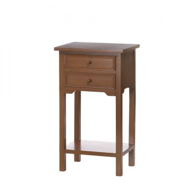 NATURAL WOODEN SIDE TABLE