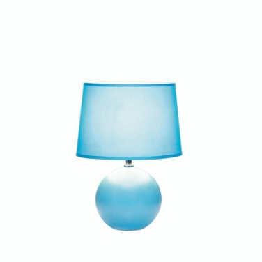 BLUE ROUND BASE TABLE LAMP