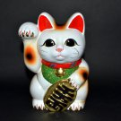 Tokoname Ware Maneki Neko 7.5'' White Maneki Neko Right Hand