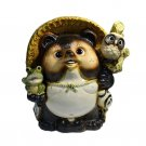 Shigaraki Pottery 16.14'' Raccoon Dog Mangan Jouju Tanuki Made in Japan