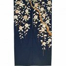 Made in Japan Traditional Cotton Cloth Noren Curtain Tapestry Sakura Tree