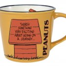 Snoopy Peanuts Vintage Design Mug Cup Yellow PT-1300 Made in Japan