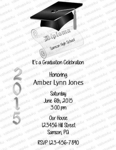 Personalized Graduation Invitations 925
