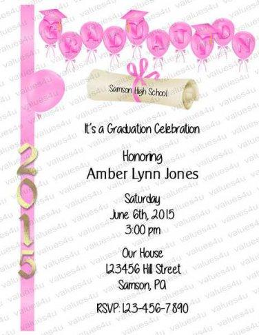 Personalized Graduation Invitations 954