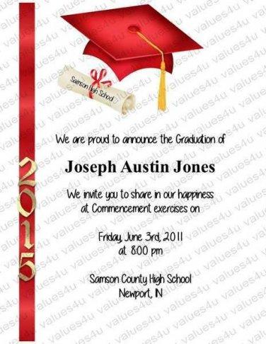 Personalized Graduation Commencement Invitation (graduationcommencement903)